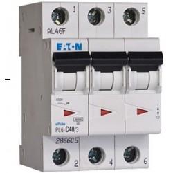 Автоматический выключатель 3 полюса 25A тип C 4,5КА EATON серии PL4