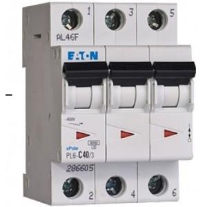 Автоматический выключатель 3 полюса 6A тип C 4,5КА EATON серии PL4