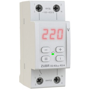 Реле контроля напряжения ZUBR D2-63 red