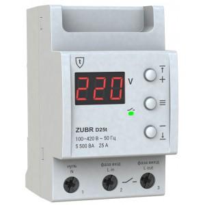 Реле контроля напряжения 25А ZUBR D25t