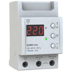 Реле контроля напряжения 32А ZUBR D32t