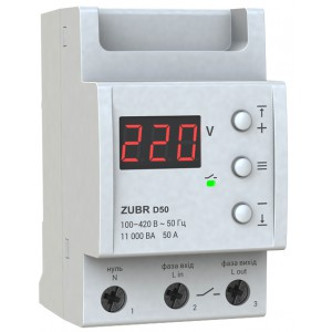 Реле контроля напряжения 50А ZUBR D50