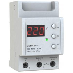 Реле контроля напряжения 63А ZUBR D63