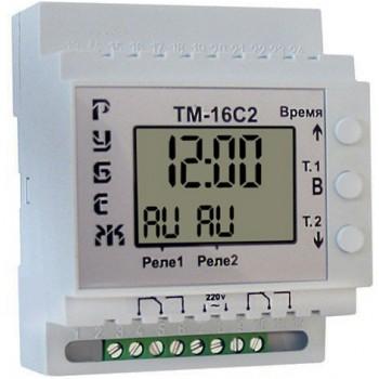 Таймер суточный двухканальный ТМ-16С2 Рубеж