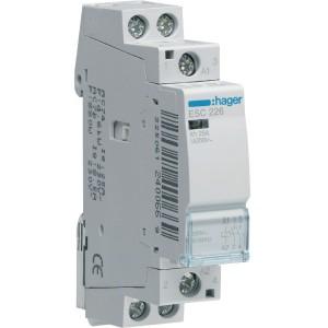 Контактор модульный стандарт 25 А с катушкой на 230 В АС 2Н.З. HAGER ESC226