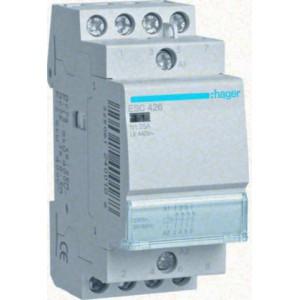 Контактор модульный стандарт 25 А с катушкой на 230 В АС 4Н.З. HAGER ESC426