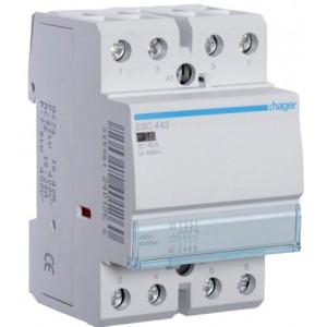 Контактор модульный стандарт 40 А с катушкой на 230 В АС 3Н.О. 1Н.С. HAGER ESC443