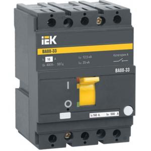 Автоматический выключатель IEK ВА88-33, 3P, 16А, 35КА