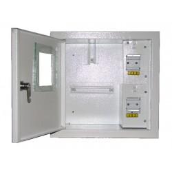 Щит распределения и учета встраиваемый на 4 автомата с местом под электронный счетчик