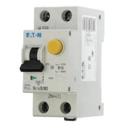 Автоматический выключатель дифференциального тока C16A 30мА тип АС 6кА EATON PFL6