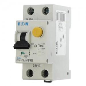 Автоматический выключатель дифференциального тока C10A 30мА тип АС 6кА EATON PFL6