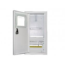 Щит распределения и учета встраиваемый на 8 автоматов с местом под електронный счетчик