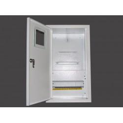 Щит распределения и учета встраиваемый на 12 автоматов с местом под 3-Х фазный электронный счетчик