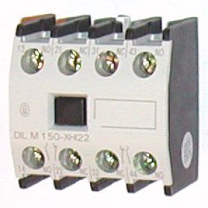 Дополнительный контакт для фронтального монтажа 3 Н.О. 1 Н.З. для контакторов DILM40-DILM170