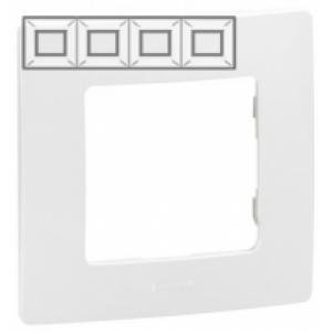 Рамка установочная 4-постовая цвет белый Legrand серии Etika