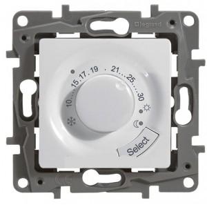 Терморегулятор для теплого пола 8А белый Legrand серии Etika