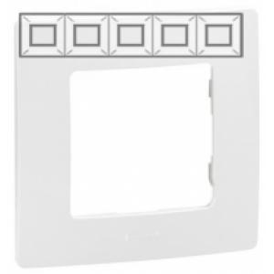 Рамка установочная 5-постовая цвет белый Legrand серии Etika