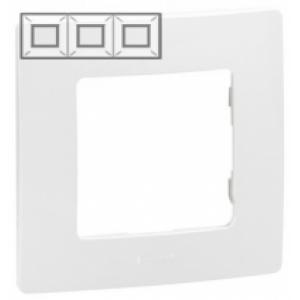 Рамка установочная 3-постовая цвет белый Legrand серии Etika