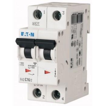 Автоматический выключатель 2 полюса 6A тип C 4,5КА EATON серии PL4