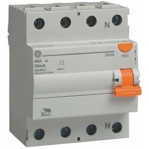Дифференциальное реле (УЗО) GENERAL ELECTRIC DCG425/030 4P 25А 30МА AC