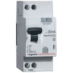Дифференциальный автоматический выключатель 1П+Н C16А 30MA тип AC LEGRAND RX3
