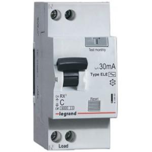 Дифференциальный автоматический выключатель 1П+Н C10А 30MA тип AC LEGRAND RX3