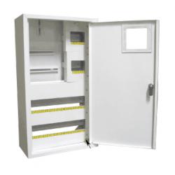 Щит распределения и учета накладной на 36 автоматов с местом под 3-х фазный электронный счетчик