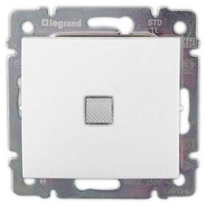 Выключатель одноклавишный с подсветкой белый legrand серии Valena