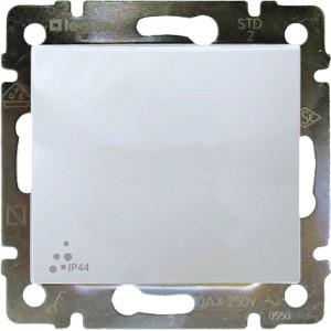 Выключатель одноклавишный IP-44 белый legrand серии Valena