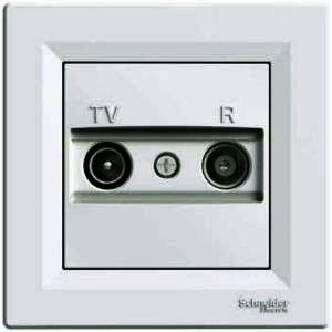 Розетка телевизионная+радио концевая