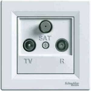 Розетка телевизионная-спутниковая-радио концевая