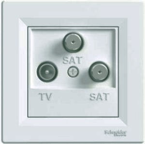 Розетка телевизионная-спутниковая-спутниковая концевая