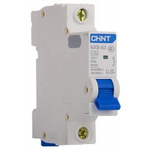 Автоматический выключатель CHINT NXB-63 1 полюс 1A тип C 6кА