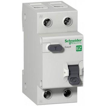 Дифференциальный выключатель SCHNEIDER ELECTRIC Easy9 2P 10А 30МА