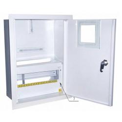 Щит распределения и учета встраиваемый на 12 автоматов с местом под електронный счетчик