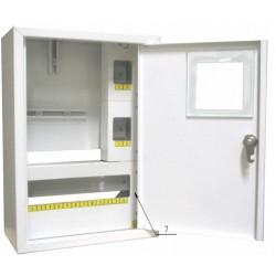 Щит распределения и учета накладной на 16 автоматов с местом под механический счетчик