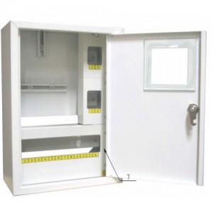 Щит распределения и учета накладной на 16 автоматов с местом под электронный счетчик