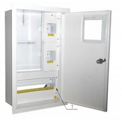 Щит распределения и учета встраиваемый на 16 автоматов с местом под электронный счетчик