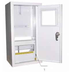 Щит распределения и учета накладной на 8 автоматов с местом под механический счетчик