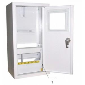 Щит распределения и учета накладной на 8 автоматов с местом под электронный счетчик