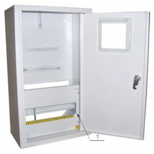 Щит распределения и учета накладной на 12 автоматов с местом под 3Х фазный електронный счетчик